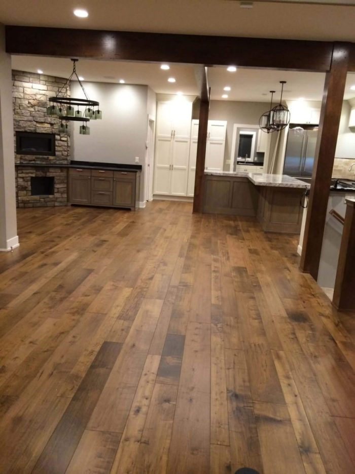 Engineered Wood Basement Flooring and Paint Ideas