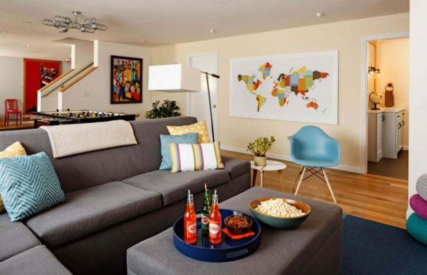 Young and Chic Basement Room Finishing Ideas