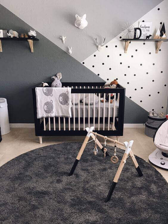Baby Room Ideas Boy with Monochromatic Patterns