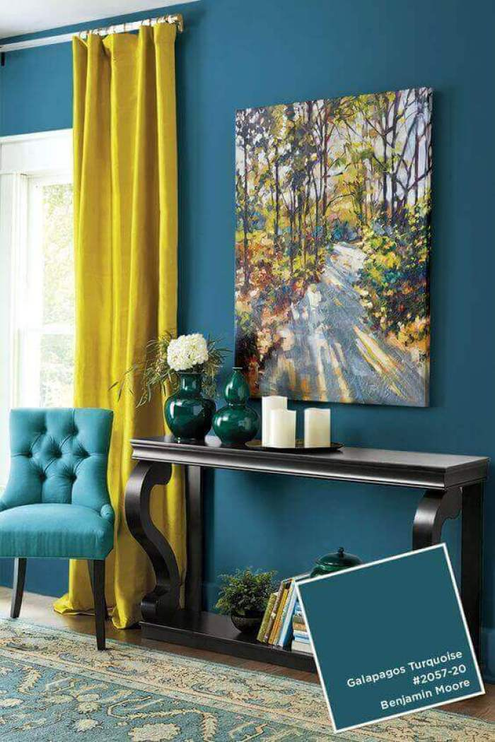 Bedroom Paint Colors Add a Lemon among The Turquoise - Harptimes.com
