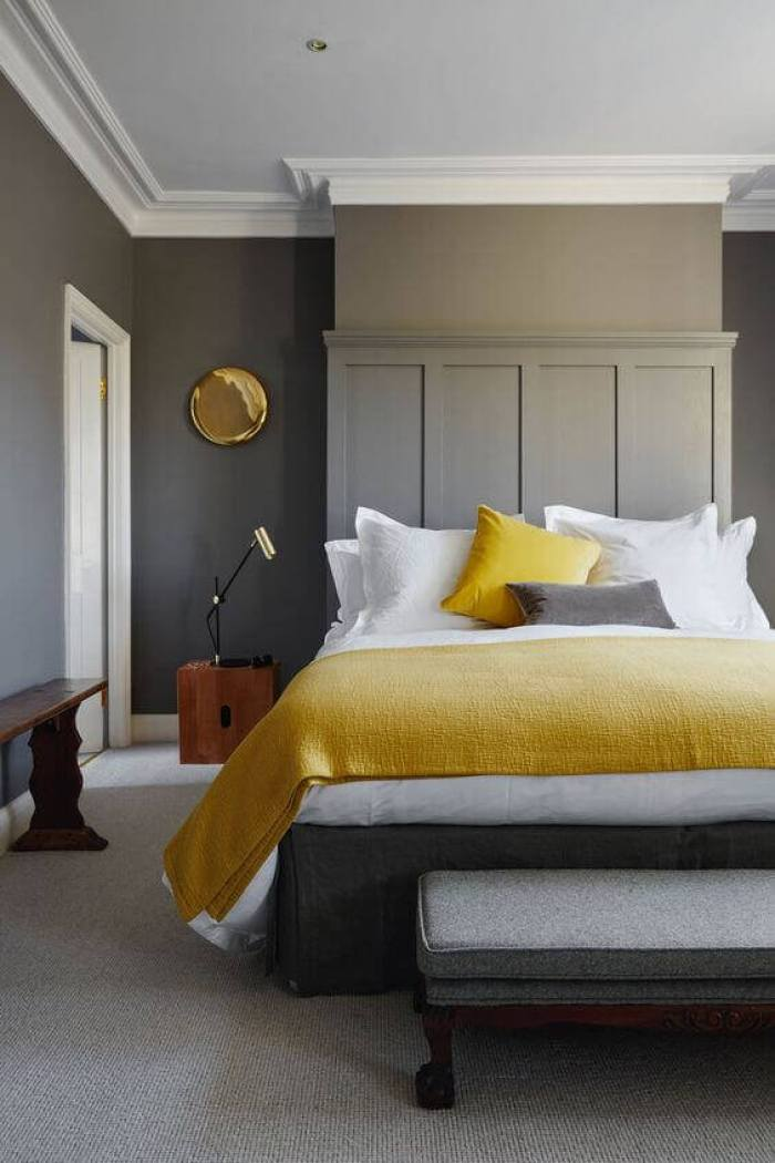 Bedroom Paint Colors Contemporary Grey and Yellow - Harptimes.com