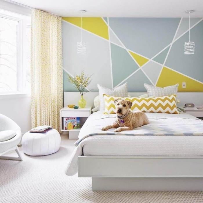 Bedroom Paint Colors Modern Bedroom with Yellow - Harptimes.com
