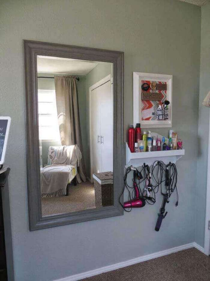 DIY Vanity Mirror with Lights Wooden Frame - Harptimes.com