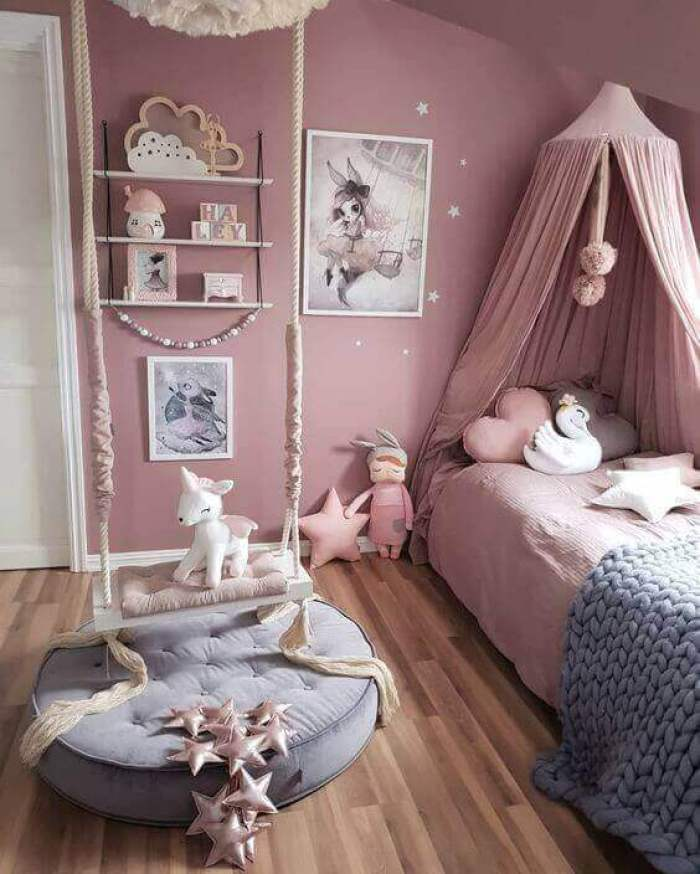Fantasy-Themed Cute Girls Bedroom Ideas Toddler - Harptimes.com