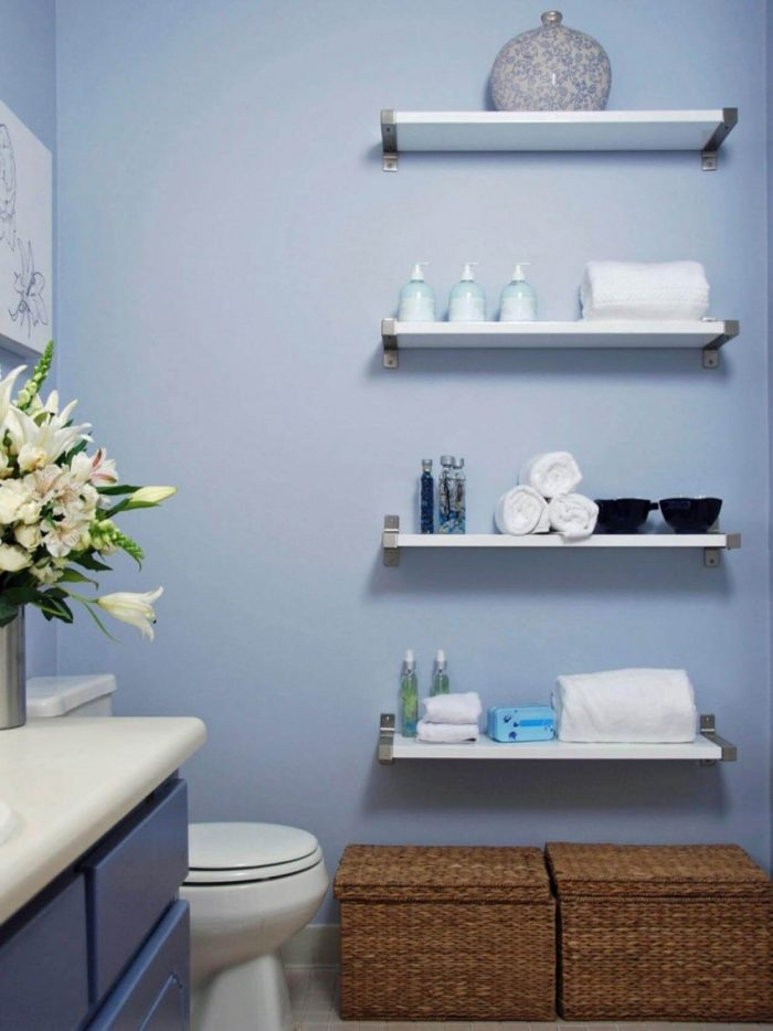 Bathroom Floating Wall Shelves Ideas Bathrooms