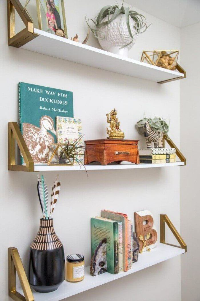 Wall Shelving Ideas with a Glam Touch