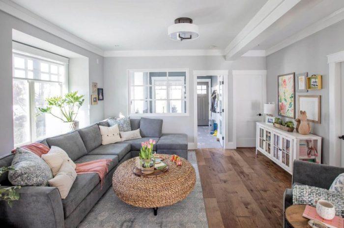 Coastal Style Grey Living Room Ideas