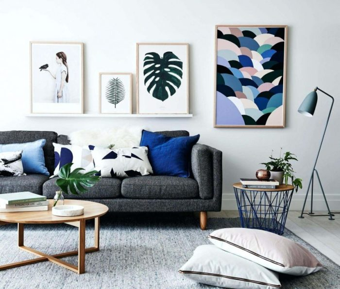 Grey and Blue Living Room Ideas