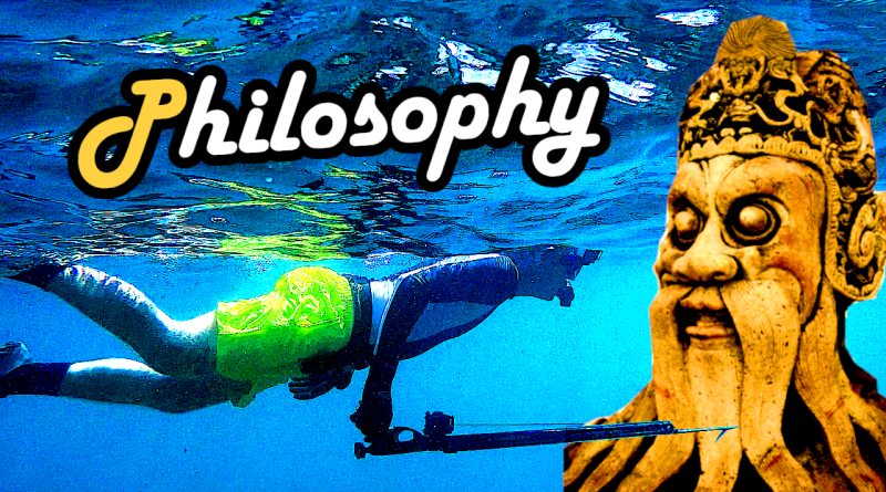 Philosophy philosophie fischen angeln spearfishing speefischen harpunieren fishing rod sense food