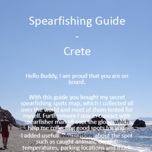 Spearfishing Crete Kreta Maps Guide Tutorial Spots Harpunieren