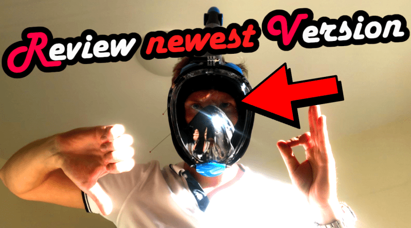 Fullface Snorkel Mask 2019 newest neuste Version Gesichtsmaske Gesichtsschnorchelmaske schnorcheln diving apnea freediving spearfishing Full Face Dive