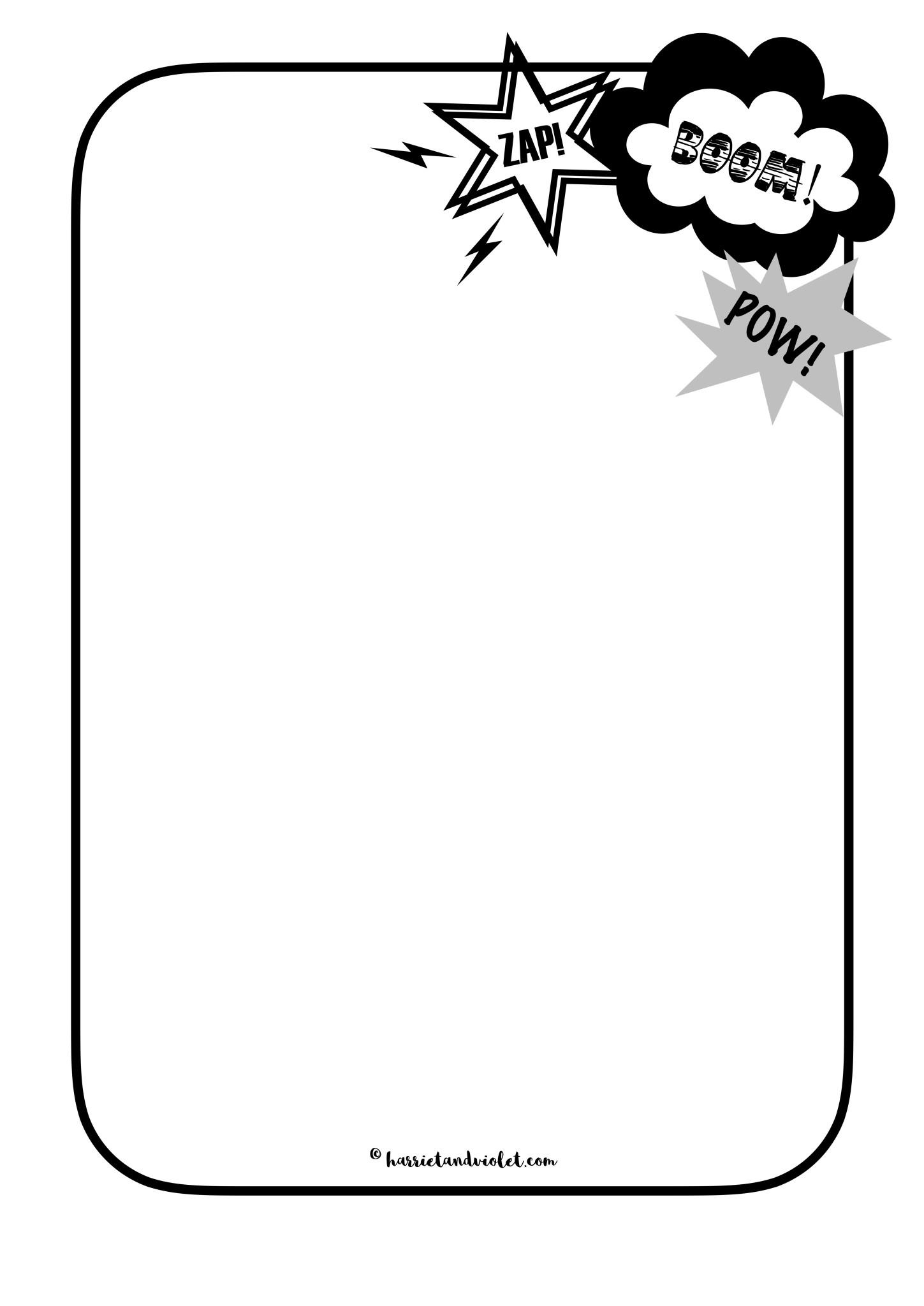 Superhero Border Paper Mark Making