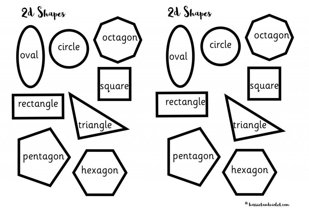 2D Shapes for Cutting, Sorting, Making Patterns or