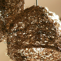 Nest Light Cluster with emu feather
