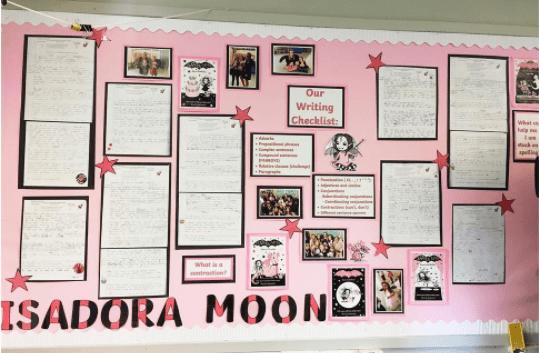 Elizabeth Woodville school Isadora Moon display