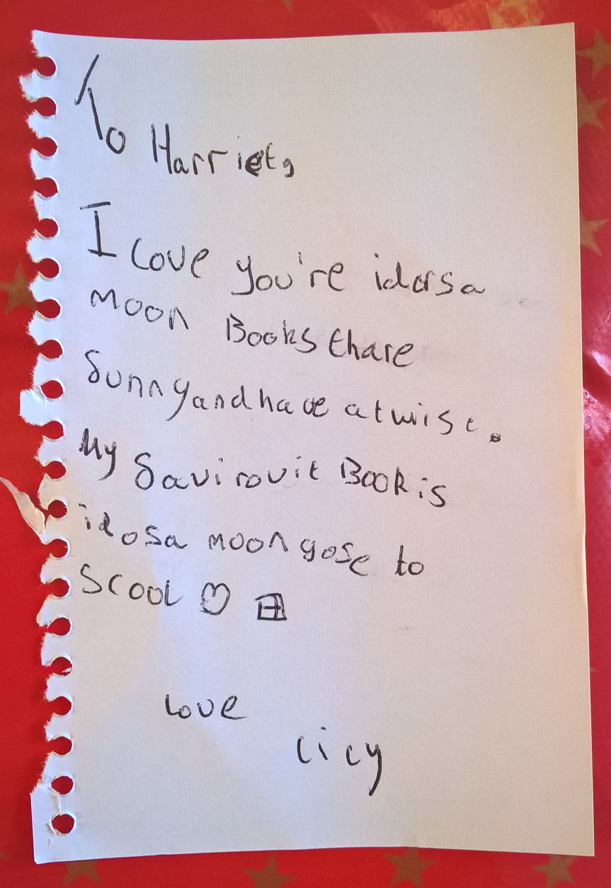 Letter about Isadora Moon from Lily