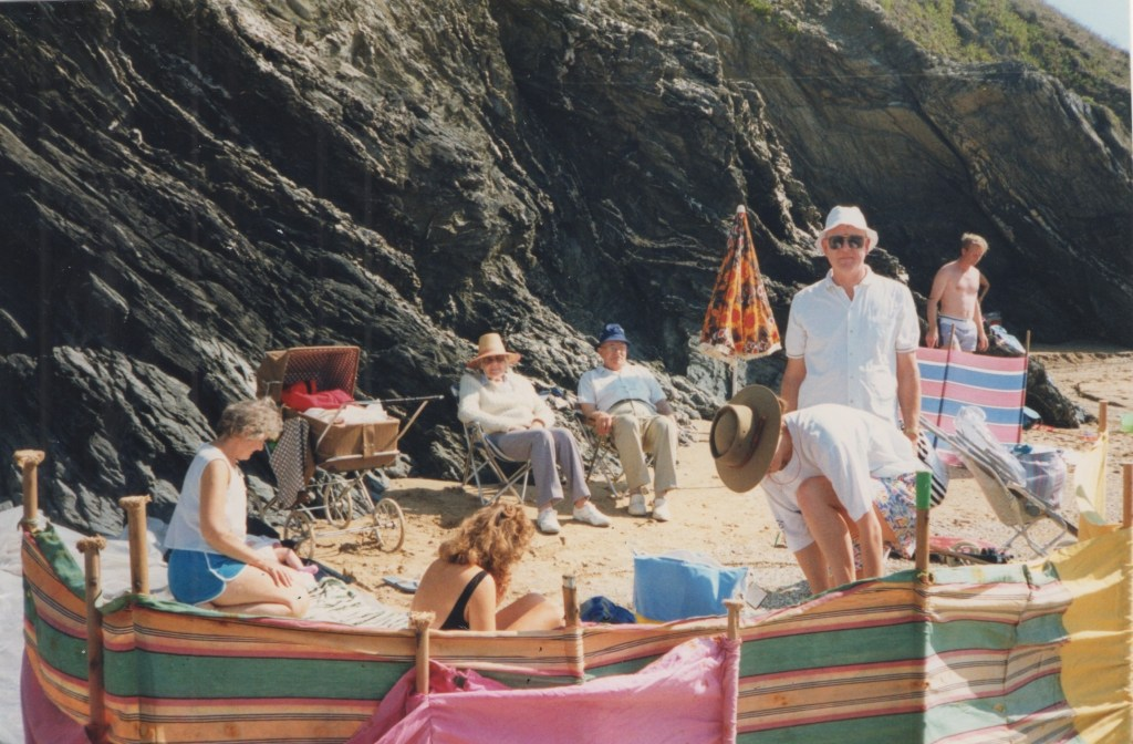 Harriet Muncaster family on the beach
