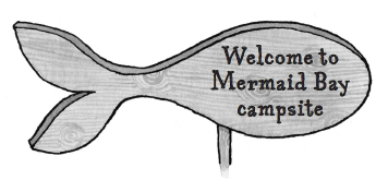 Mermaid bay sign