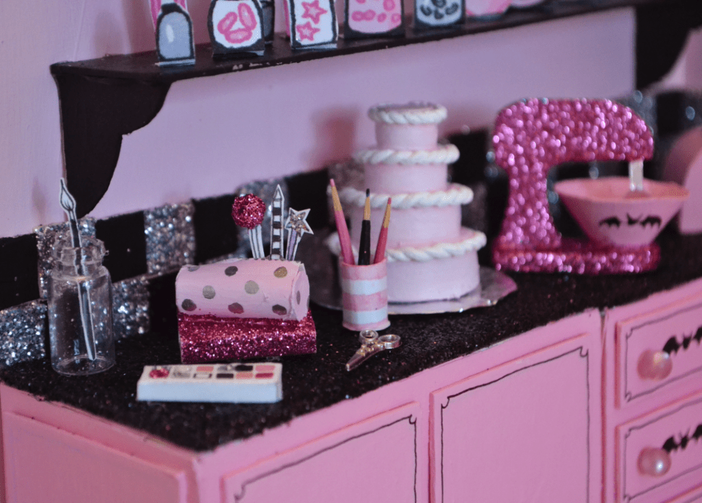 Details in the 3D illustration of Isadora Moon's kitchen
