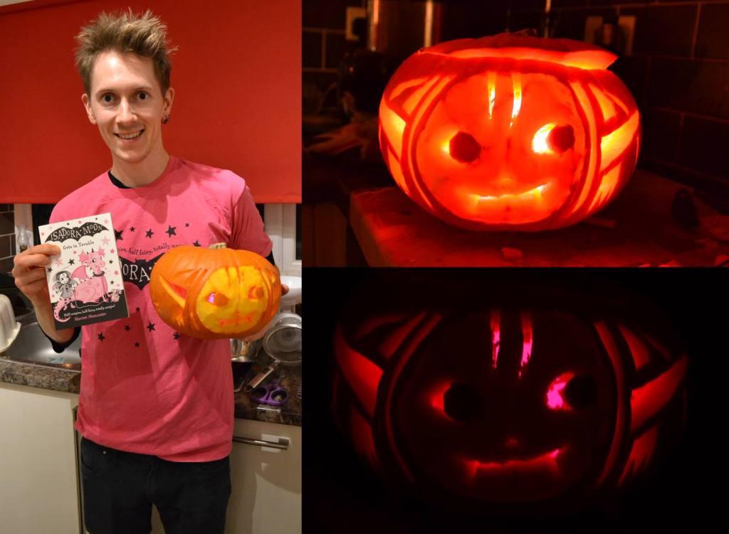 Henry's Isadora Moon Halloween pumpkin