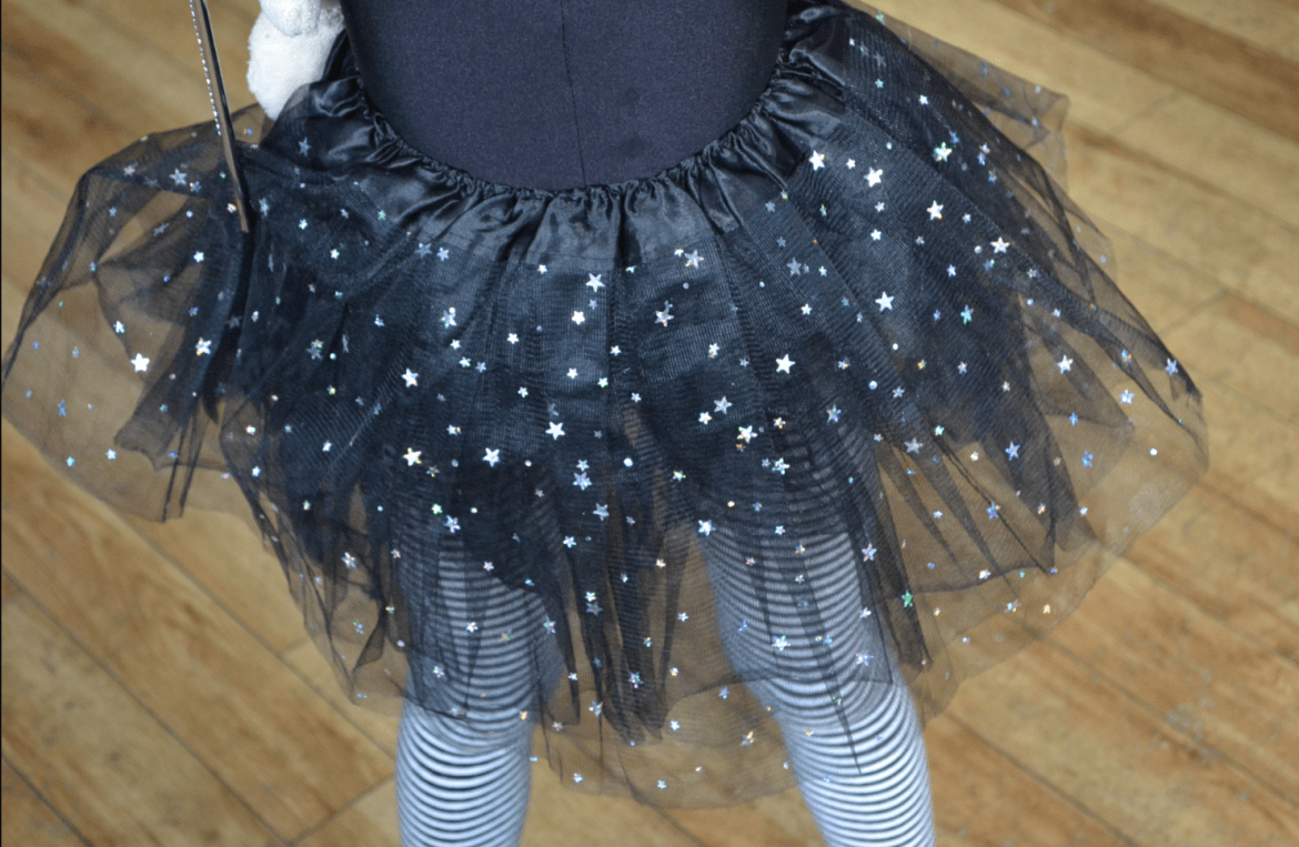 Sparkly tutu at Manchester Waterstones Isadora Moon Halloween party