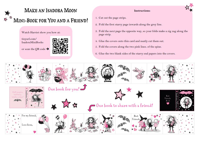 Isadora Moon Mini Book Activity Sheet screengrab
