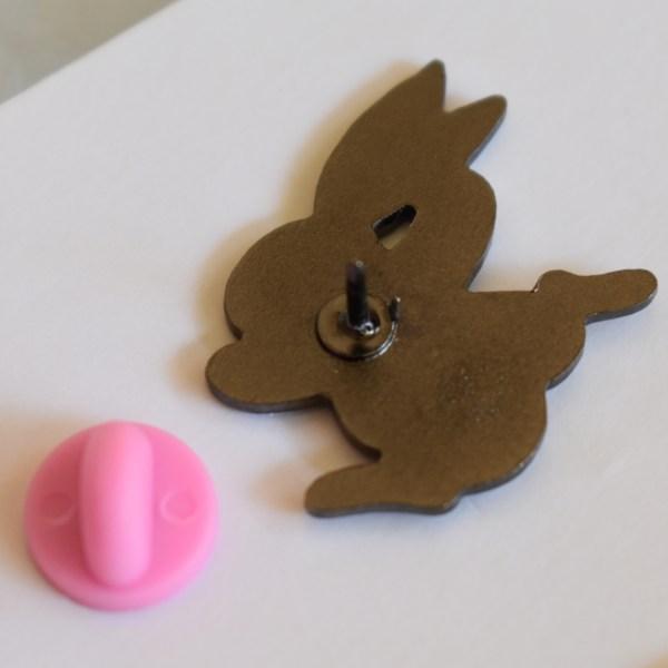 Pink Rabbit Pin Reverse pink rubber