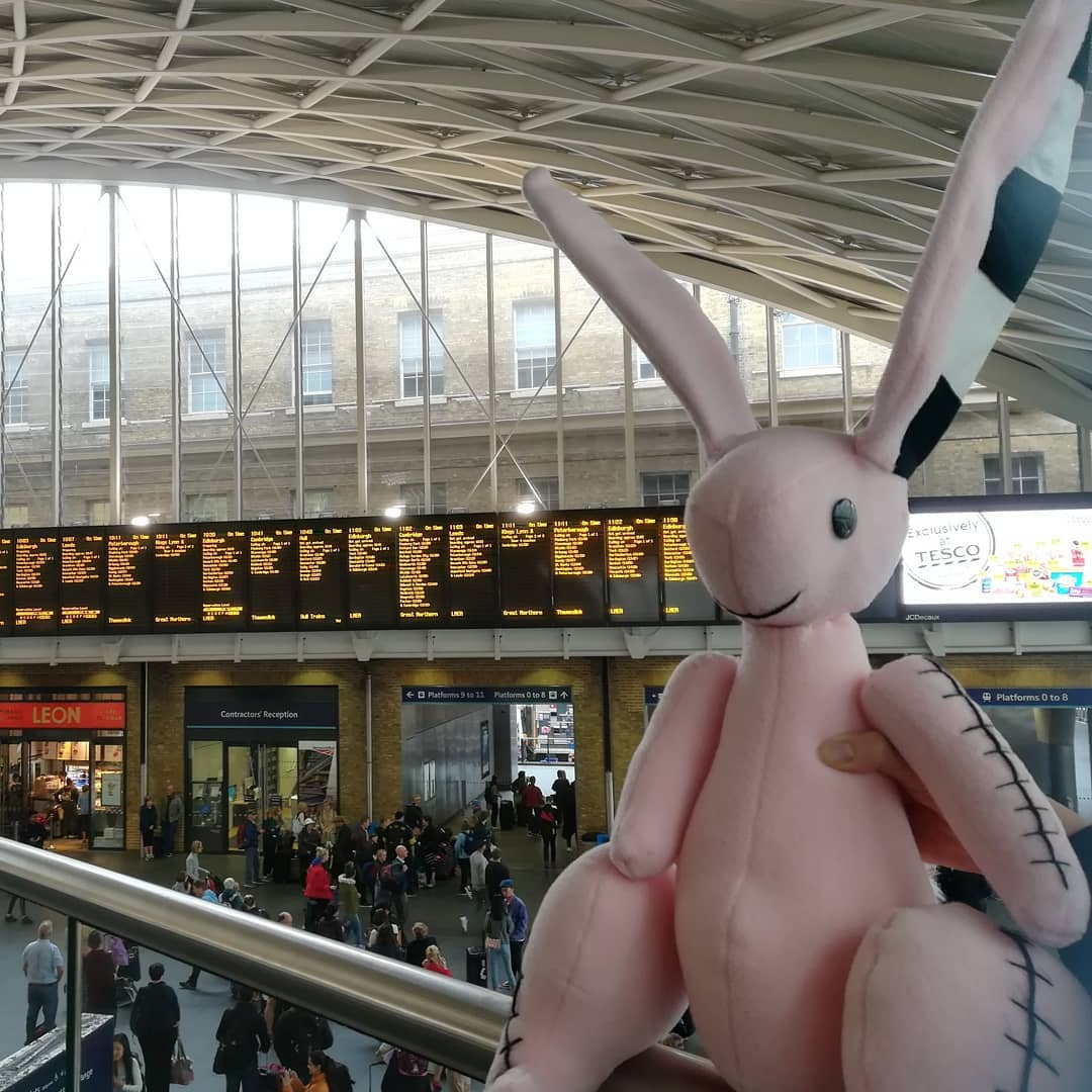 Isadora Moon's Pink Rabbit at London Kings Cross