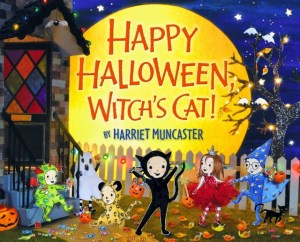 Happy Halloween Witch's Cat by Harriet Muncaster cover