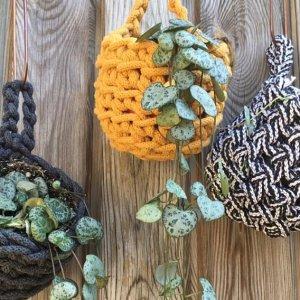 crochet hanging plant pots
