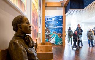 Inside the Harriet Tubman Visitor Center
