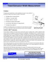 HIC Tread Extrustion Width Measurement