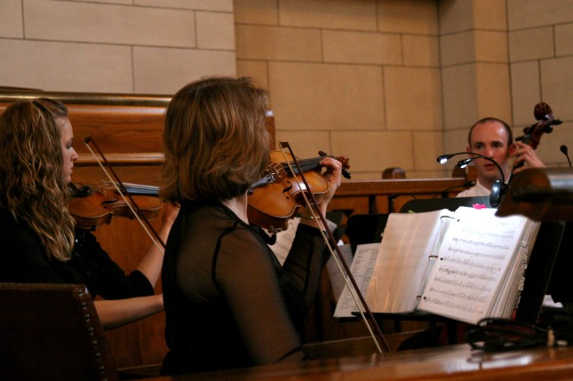 String quartet playing in capitol building