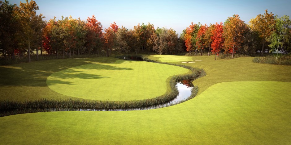visualisation-of-hole-14-fairway-at-weybrook-park-golf-club