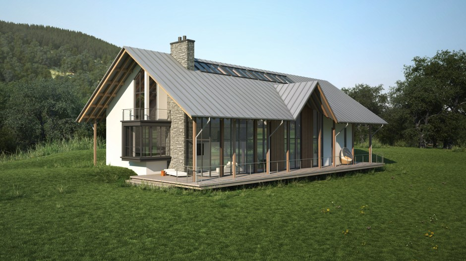 Visualisation showing a typical house designed for this golf course development