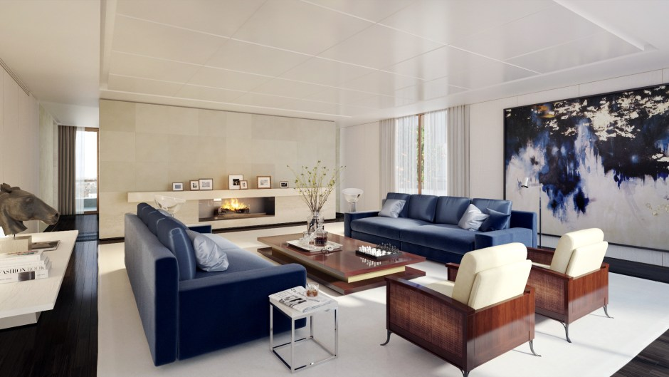 Chelsea Penthouse Living Room Visualisation