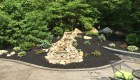 40-Complete backyard renovation with kitchen, waterfall, gas firepit, planting, landscape lighting, drainage and stairs. All walls and steps capped with custom cut bluestone (15)