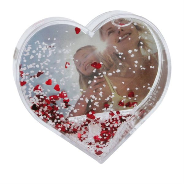 Dorr Heart Shaped Snow Globe With And Red Hearts