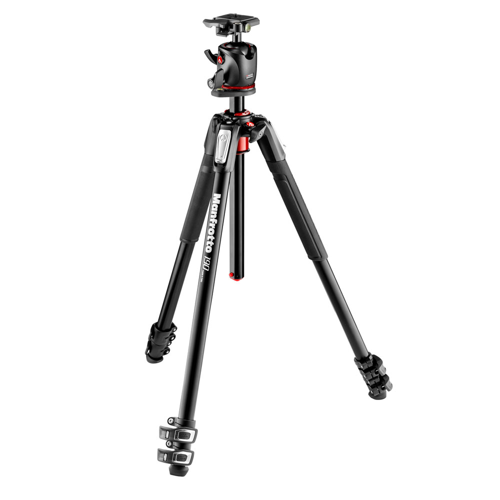 Manfrotto 190 Aluminium 3 Section Tripod with XPRO Ball