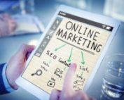 man doing digital marketing quiz online