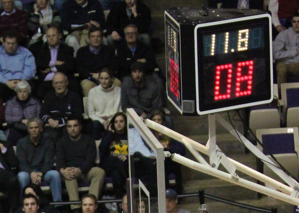 Shot clock basketball game