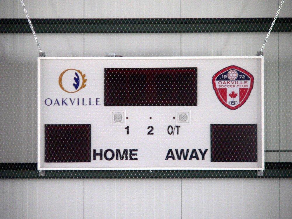 Harris Time soccer scoreboard