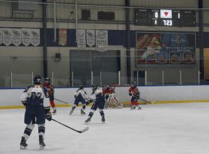 Harris Time hockey scoreboard