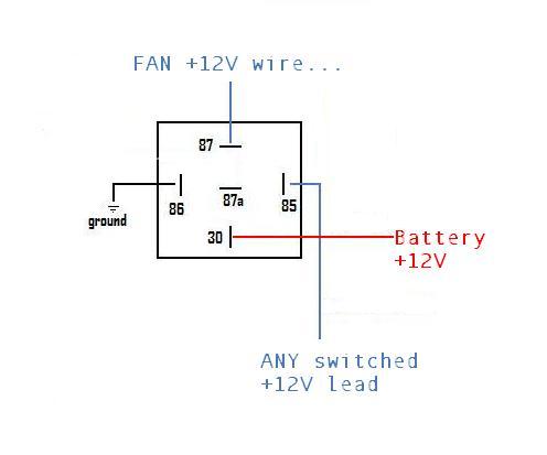 12v fan relay wiring diagram  1985 land rover defender