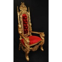 Gold/Red King Lion Throne Chair LK-1-GR