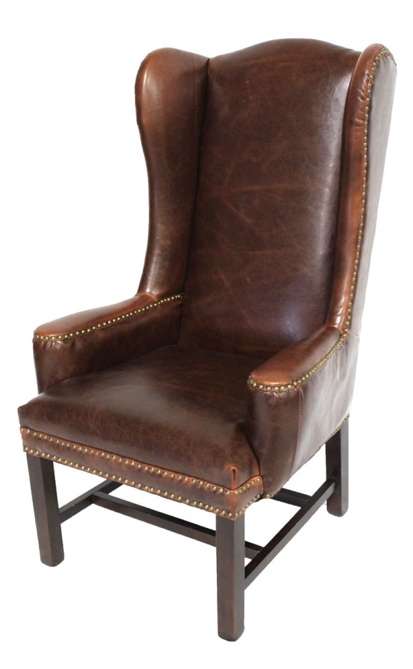 Leather Wing Back Dining Chair