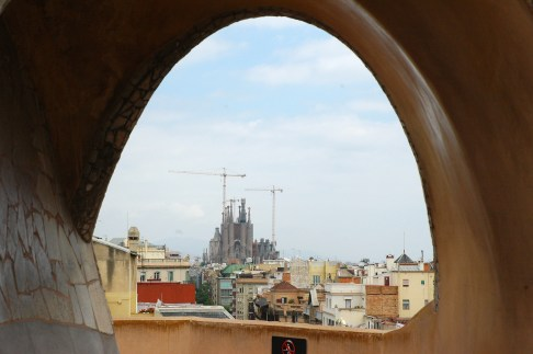 Sagrada Familia from the roof