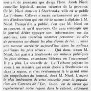«Remaniement ministériel?; De M. Nicol à M. Bouchard; M. Bouchard trouve à qui parler»