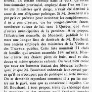 «M. Bouchard et les destitutions»