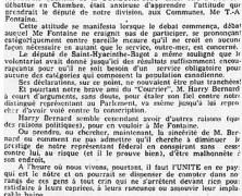 «La fière attitude de Me T.-A. Fontaine sur la loi de la conscription»